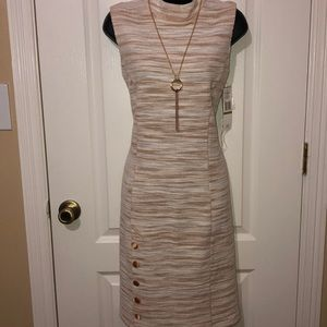 Sharagano bisque/ ivory dress